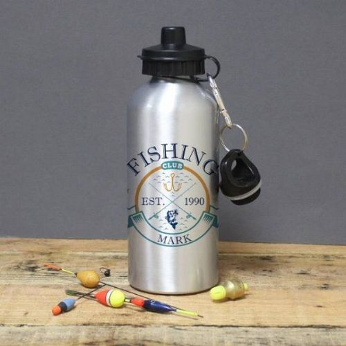 Fishing Club Silver Drinks Bottle